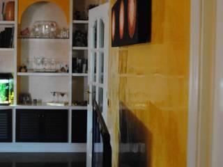pinturas decorativas en paredes y techos Pintores Juan Jiménez Salones de estilo moderno Mármol Amarillo