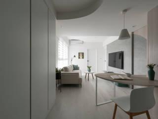 Scandinavian style corridor, hallway& stairs by 寓子設計 Scandinavian