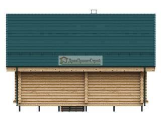 Проект дома № 280, Дом из оцилиндрованных бревен 50,05м². Размеры 9000 х 6200. ПСК Древпроектстрой Деревянные дома Дерево Эффект древесины