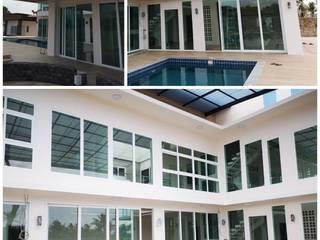 โรงงาน พัทยา กระจก ยูพีวีซี Pattaya UPVC Windows & Doors Металопластикові вікна Скло Білий