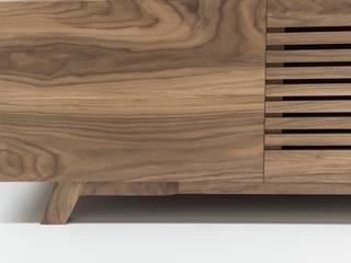 Mueble de salón de Albura Wood Designs Asiático