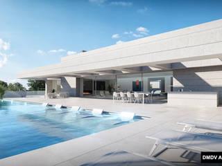 Minimalist balcony, veranda & terrace by DMDV Arquitectos Minimalist