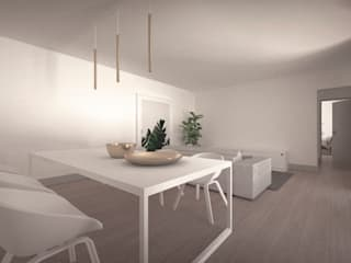 Casa no Jamboeiro, Funchal Salas de jantar ecléticas por AA.Arquitectos Eclético