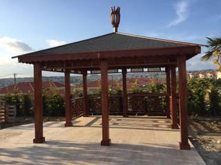 AĞAÇ EV MOBİLYA PEYZAJ LTD. ŞTİ. Garden Greenhouses & pavilions Kayu Wood effect