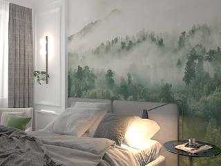 Квартира в ЖК Донской Олимп Спальня в эклектичном стиле от МайАрт: ремонт и дизайн помещений Эклектичный