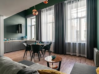 Modern Living Room by GSK дизайн интерьера спб, проектирование и реаизация Modern