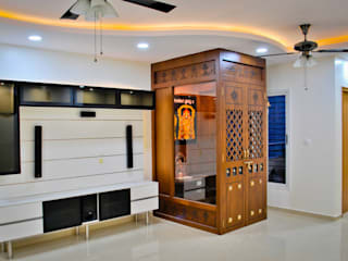 Flat Interiors at Nandi Citadel Bangalore Modern living room by Space Collage Modern
