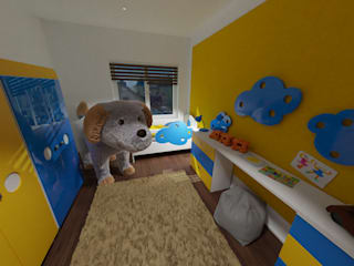 das3Dstudio – Design & 360 Grad Virtual Reality & Visualisierung vom Grundriss – Made in Germany das3Dstudio Moderne Kinderzimmer