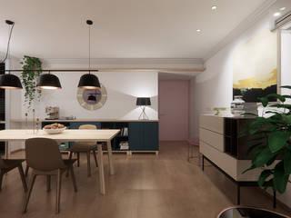 裝飾設計 现代客厅設計點子、靈感 & 圖片 根據 超越設計工作室 現代風