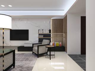 三重富貴街的私人會所 现代客厅設計點子、靈感 & 圖片 根據 超越設計工作室 現代風