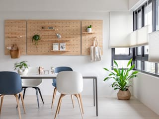 Salas de estar escandinavas por 寓子設計 Escandinavo