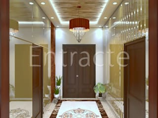 Villa In Adarsh Palm Retreat Asian style corridor, hallway & stairs by Entracte Asian