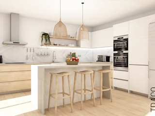 TRAÇO 8 INTERIORES Unit dapur Kayu White