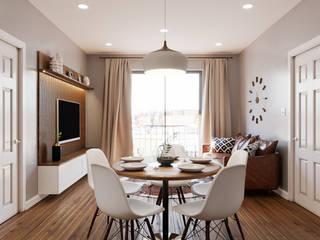 Апартаменты в Нью-Йорке Гостиная в скандинавском стиле от Biriukova Ievgeniia Скандинавский