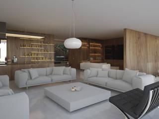 Casa Bosques Cedros Salones minimalistas de 21arquitectos Minimalista