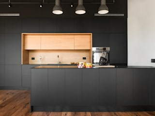Industrial style kitchen by mg2 architetture Industrial
