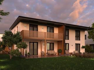 3D Architekturvisualisierung Doppelhaus von GRIFFEL 3D DESIGN Modern