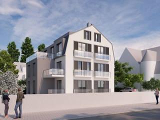 3D Architekturvisualisierung Mehrfamilienhaus von GRIFFEL 3D DESIGN Modern