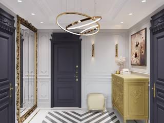 Хамовники Коридор, прихожая и лестница в классическом стиле от o2designmoscow Классический