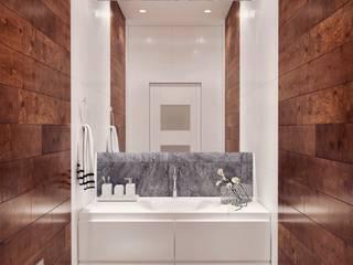 3D Innenraumvisualisierung Schlafzimmer und Bad Moderne Badezimmer von GRIFFEL 3D DESIGN Modern