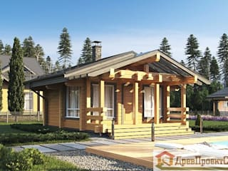 ПСК Древпроектстрой Small houses Wood Wood effect