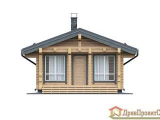 ПСК Древпроектстрой Casas pequenas Madeira Efeito de madeira