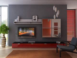Модульная мебель в гостиную на заказ от Арлайн Скандинавский