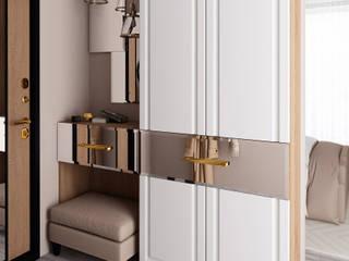 Дизайнерские шкафы для верхней одежды в прихожую:  в современный. Автор – Арлайн, Модерн