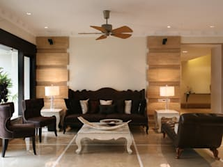 Rich & Aki Modern living room Marble Brown
