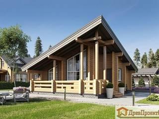 ПСК Древпроектстрой Chalés e casas de madeira Madeira Efeito de madeira