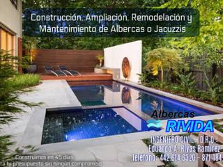 PROYECTO-DISEÑO-CONSTRUCCION Albercas minimalistas de EARR CONSTRUCCIONES, S.A. DE C.V. Minimalista