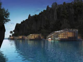 Resort Hotel at Cadlao Lagoon, El Nido, Palawan by JAAL Builders Tropical