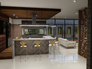 Punto Uno Arquitectos Modern Kitchen