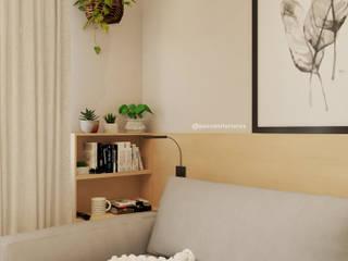 Jéssica Paiva Interiores Ruang Keluarga Gaya Skandinavia