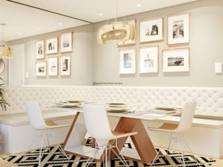 Jéssica Paiva Interiores Ruang Makan Modern