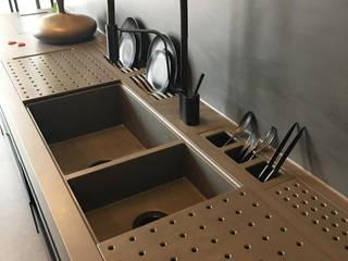 の Omar Interior Designer Empresa de Diseño Interior, remodelacion, Cocinas integrales, Decoración モダン