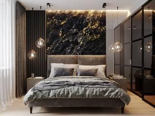 Квартира у Яхтенного моста Спальня в стиле минимализм от LEHOVA DESIGN Минимализм