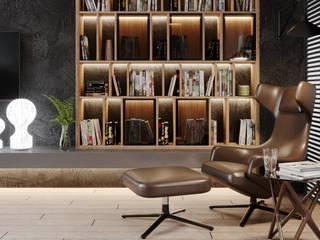 Квартира у Яхтенного моста Гостиная в стиле минимализм от LEHOVA DESIGN Минимализм