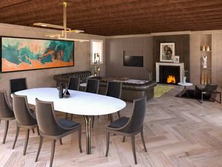 Casa ADP Soggiorno moderno di 7047 Associati Moderno