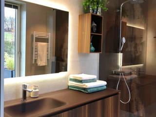 Rifinitura di un ambiente bagno a Spa, Belgio di Quaranta Ceramiche Srl Moderno