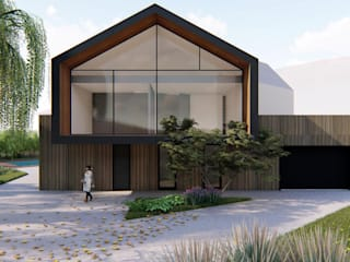Casas de estilo minimalista de mg2 architetture Minimalista