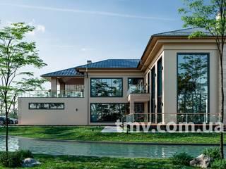 Индивидуальный проект особняка с бассейном от TMV Architecture company