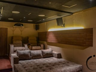 Dr Chhabra's Home Theatre Modern media room by Locus Design Works Modern