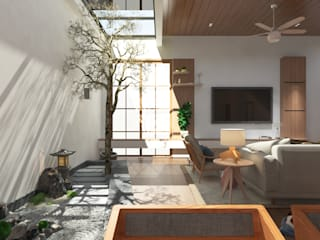 Zen Serenity W33 Design Studio Living room Wood effect