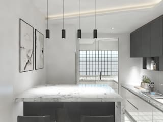Marble Maniac W33 Design Studio Built-in kitchens Marble Grey