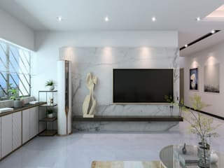 House M2 W33 Design Studio Living room Marble White