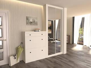 Дизайнерские шкафы для верхней одежды в прихожую от Арлайн Минимализм