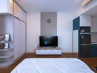 Trang trí nội thất căn hộ River Gate Apartment Tường & sàn phong cách hiện đại bởi Công ty trang trí nội thất RIM Decor Hiện đại