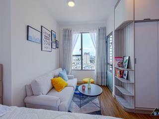 Trang trí nội thất căn hộ River Gate Apartment Cửa sổ & cửa ra vào phong cách hiện đại bởi Công ty trang trí nội thất RIM Decor Hiện đại