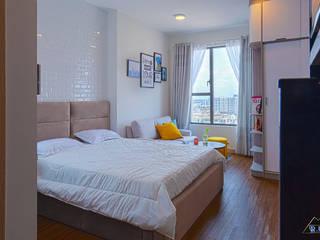 Trang trí nội thất căn hộ River Gate Apartment Phòng ngủ phong cách hiện đại bởi Công ty trang trí nội thất RIM Decor Hiện đại